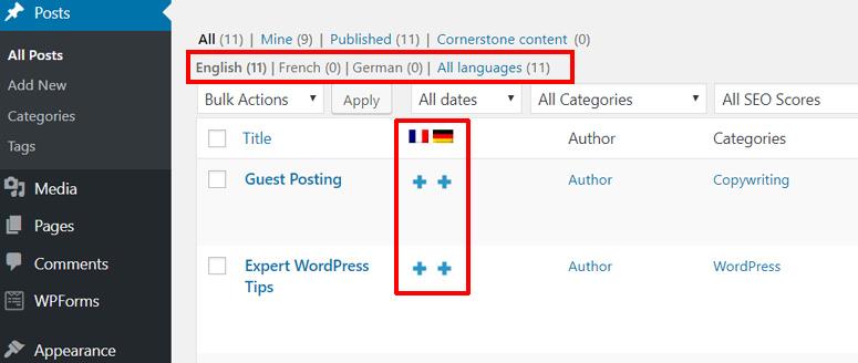 چند زبانه کردن سایت وردپرس